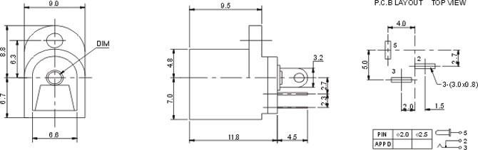 DC插座DC016A